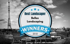 Pantagraph Readers Choice 2018 Best Landscaper is Bellas Landscaping