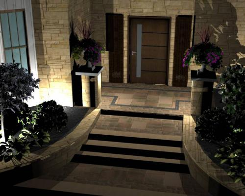 Entrance 3D Night Design